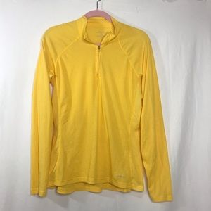 Patagonia Yellow 1/2 Zip Capeline Long Sleeve Top